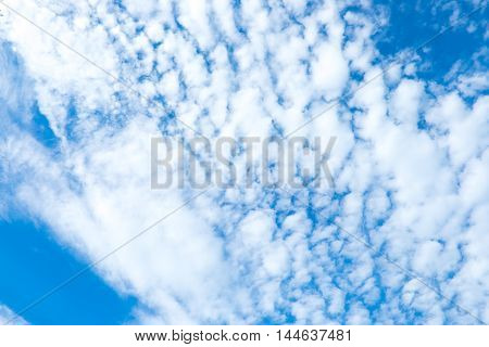 Cloud An Blue Sky With Sun Ray ,natural Background