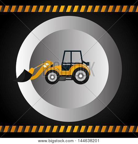machinery vehicle construction heavy icon vector illustration design poster