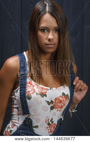 Woman In Overalls