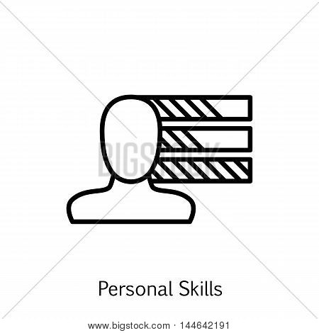 Vector Illustration Of Project Management Icon On Personality, Skills And Initiative In Trendy Flat