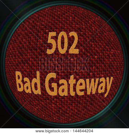 Error 502 Bad Gateway - coffee beans 3D pattern