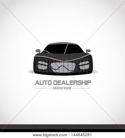 Abtract balck white car logo design icon vector company element template