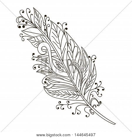 Vector Peerless Decorative Feather Tribal design Tattoo