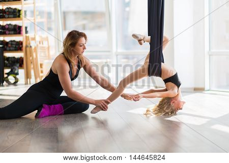 Adorable Girl In A Gymnastics Hammock