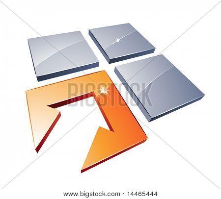 Squares and arrow design