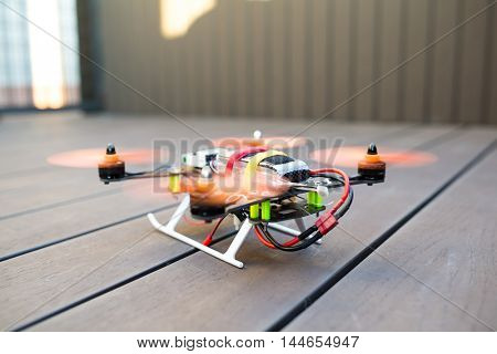 Drone prepare to fly