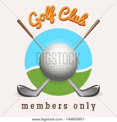 Golf logo design template. Golf club emblem vector illustration