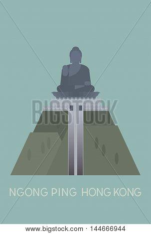 vector of big Bhudda at Ngong Ping