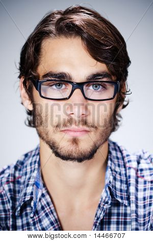young man with eyeglasses