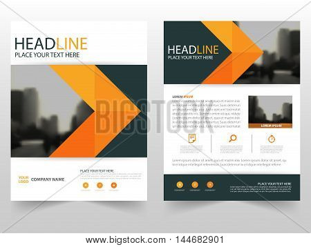 Orange black Vector annual report Leaflet Brochure Flyer template design book cover layout design abstract business presentation template a4 size design