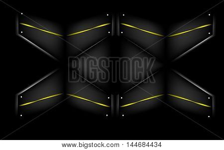 wall of quadrangles - vector illustration, dark triangle