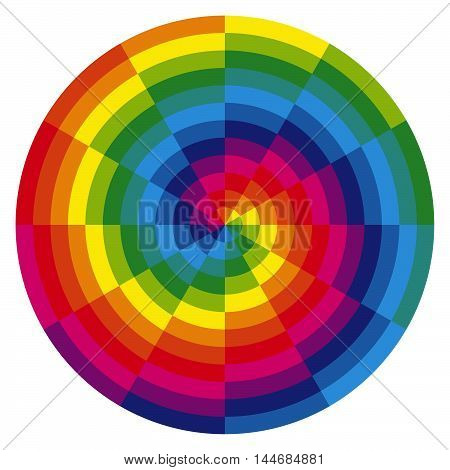 Color Spiral With Overlaying Colors