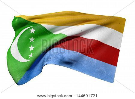 Union Of The Comoros Flag Waving