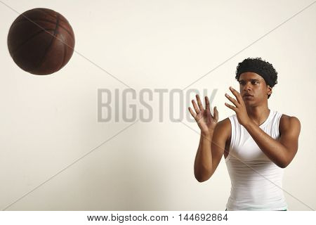 Basketball Player Throwing A Ball