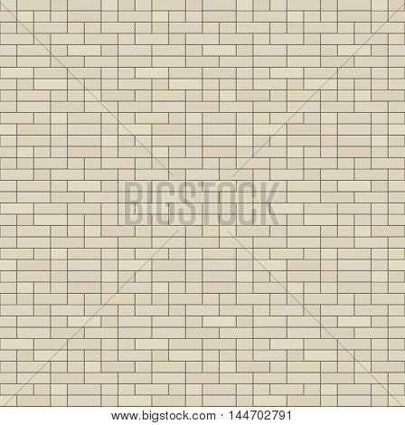 Simple seamless texture - brick stone wall. Vector illustration.