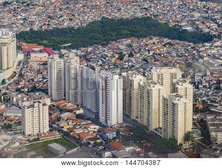 Aerial View Of San Pablo Brasi From Window Plane