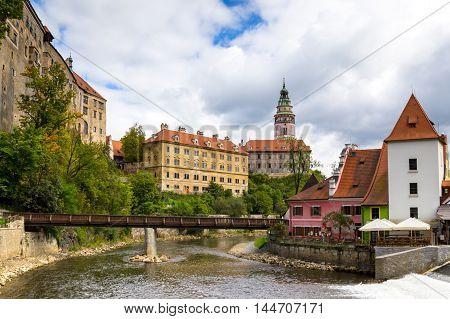 Medieval castle of Cesky Krumlov Czech Republic