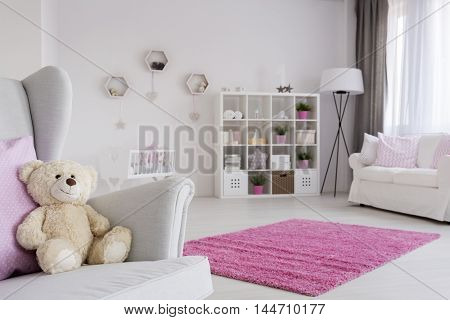 Teddy Bear Waiting For A Friend