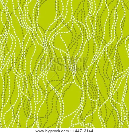 Seamless abstract vector pattern with wavy lines