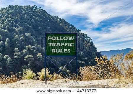 Follow Traffic Rules