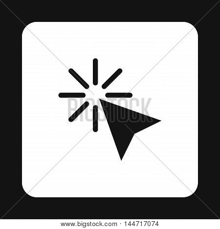 Cursor of mouse arrow clicks icon in simple style isolated on white background. Computer and internet symbol