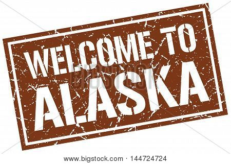 welcome to Alaska. stamp. grunge square sign