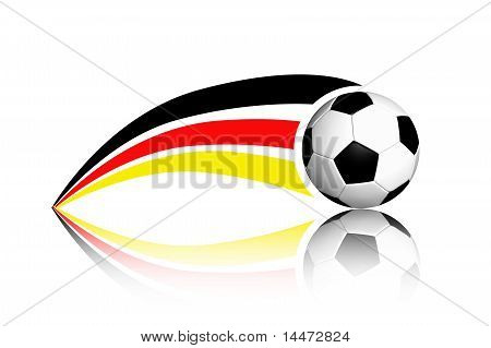 Football And Germany Flag