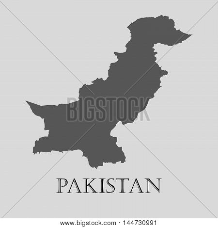 Gray Pakistan map on light grey background. Gray Pakistan map - vector illustration.