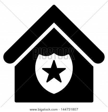 Realty Protection icon. Glyph style is flat iconic symbol, black color, white background.