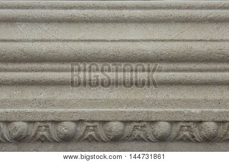 Decorative frieze - macro, close-up, concrete, decor, decorative, interior