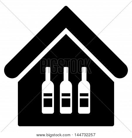 Wine Bar icon. Glyph style is flat iconic symbol, black color, white background.