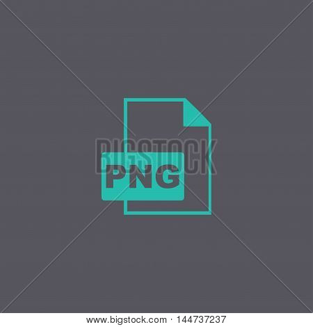 Png Icon. Vector Concept Illustration For Design