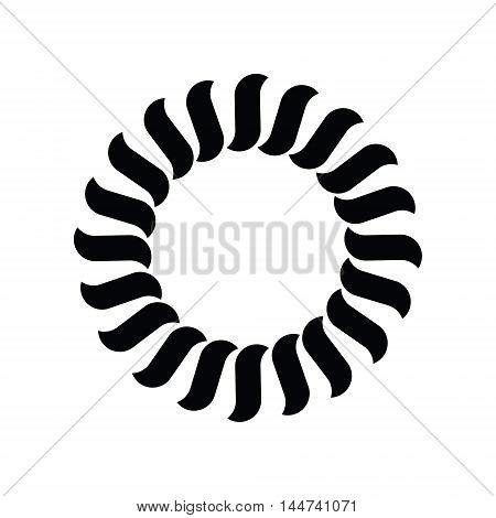 Abstract geometric symbol. Sun or flower or wheel. Vector Illustration