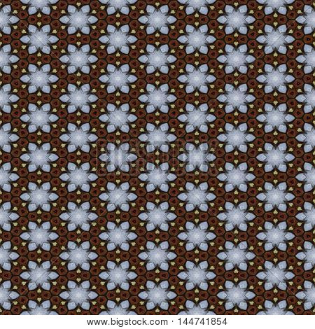 Floral brown seamless repeating pattern or image