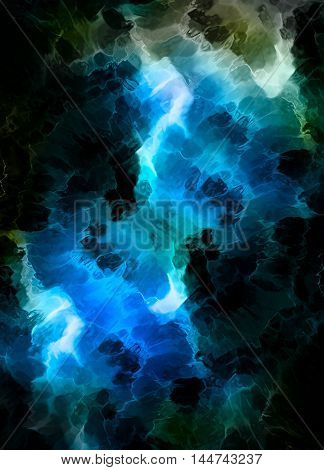 Color abstract background. Winter structure. Computer collage. Earth Concept