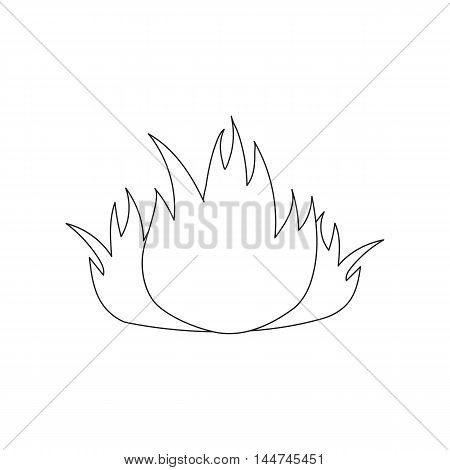 Fire icon black style. Single silhouette fire equipment icon from the big fire Department line - stock vector