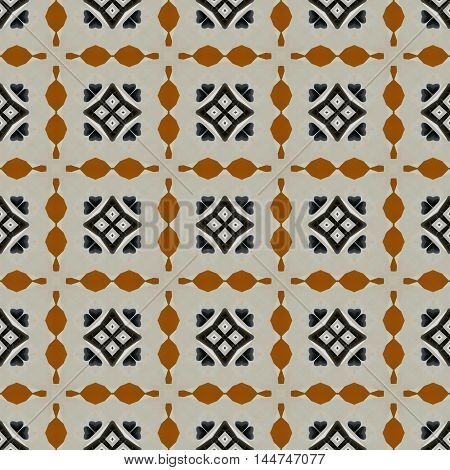 Grey and brown traditional folklore design pattern