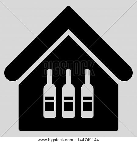 Wine Bar icon. Vector style is flat iconic symbol, black color, light gray background.