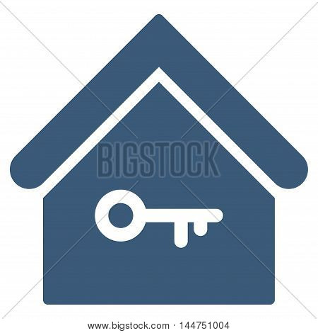 Home Key icon. Vector style is flat iconic symbol, blue color, white background.
