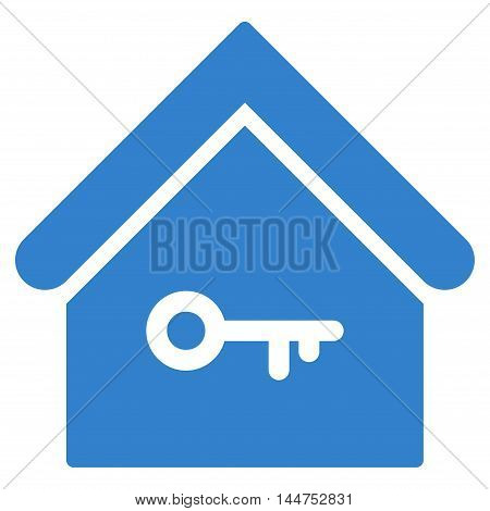 Home Key icon. Vector style is flat iconic symbol, cobalt color, white background.