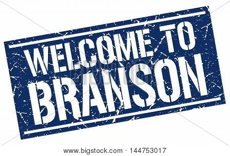 welcome to Branson. stamp. grunge square sign
