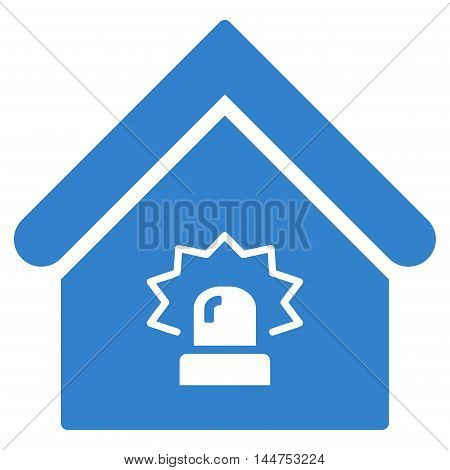 Realty Alarm icon. Vector style is flat iconic symbol, cobalt color, white background.