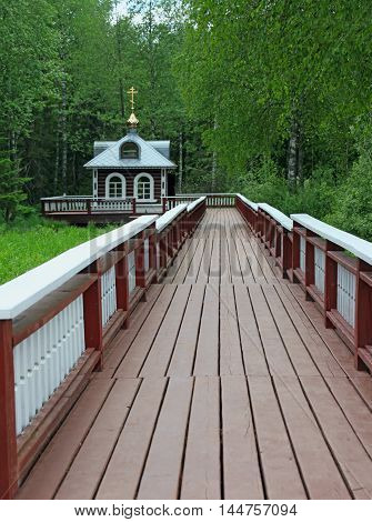 Chapel at the source of the Volga River Volgoverkhovye Tver region Russia