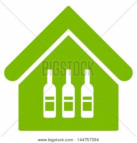 Wine Bar icon. Vector style is flat iconic symbol, eco green color, white background.