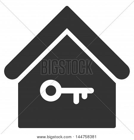 Home Key icon. Vector style is flat iconic symbol, gray color, white background.
