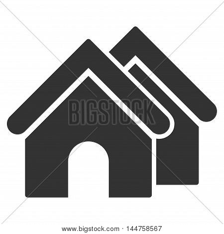 Real Estate icon. Vector style is flat iconic symbol, gray color, white background.