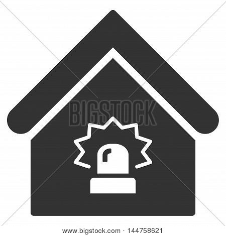 Realty Alarm icon. Vector style is flat iconic symbol, gray color, white background.