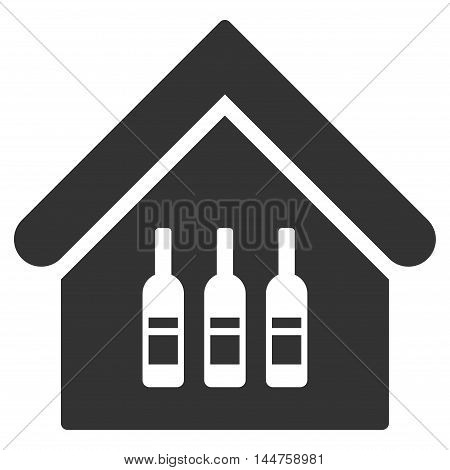 Wine Bar icon. Vector style is flat iconic symbol, gray color, white background.