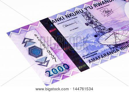 2000 Rwandan francs of Rwanda. Rwandan francs is the national currency of Rwanda