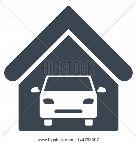 Car Garage icon. Vector style is flat iconic symbol, smooth blue color, white background.